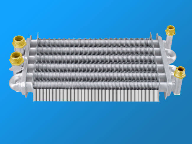 Double-channel wall-mounted furnace heat exchanger